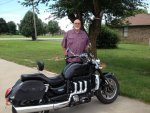 Sam Porter and new Triumph Rocket 3 Roadster. 7-20-2015.jpg