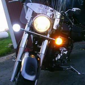 white/amber switchback LED lights