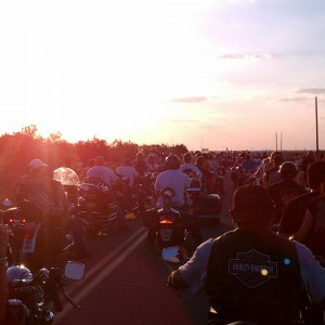 ROT rally 2011.  waiting for motorcycle parade to begin