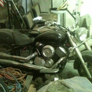 How it sat for a few years before I took it home and began to bobber it out.