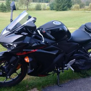Yamaha R3 - We traded this in on the Bolt.  Fun bike, but was not ideal for some longer hauls.