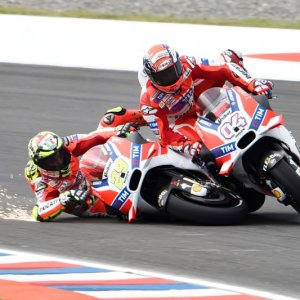 Iannone taking out his teammate on the last lap, would have finished 2nd and 3rd.